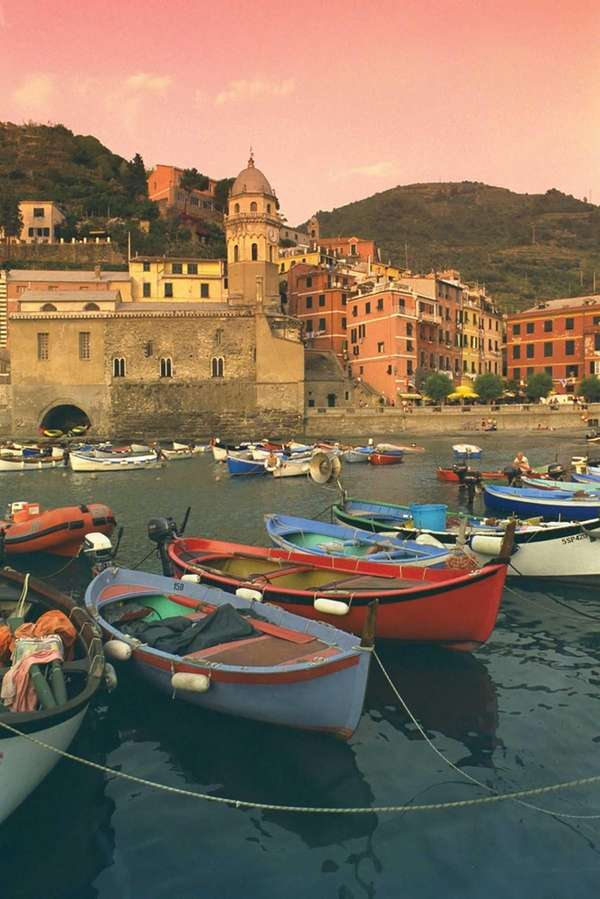 Sunrise heightens the charm of Italy's seaside villages