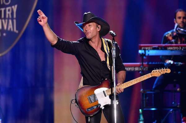 Tim McGraw performs during the iHeartRadio Country Festival