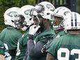 New York Jets defensive end Muhammad Wilkerson, center