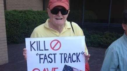 Bill Crump attended a rally Monday, June 8,