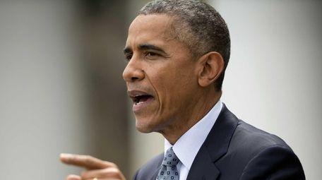 President Barack Obama speaks the Rose Garden of