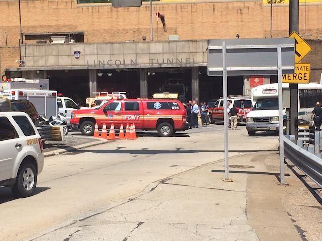 Dozens were injured in a Lincoln Tunnel bus