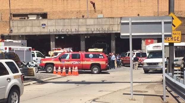 Dozens were injured in a Lincoln Tunnel bus