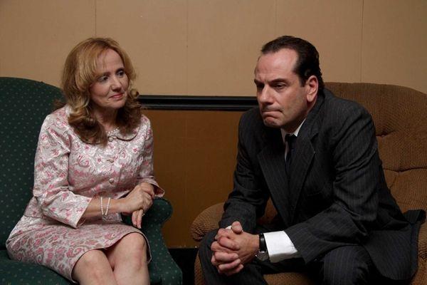 Carolyn Popadin as Pat Nixon and Scott Earle