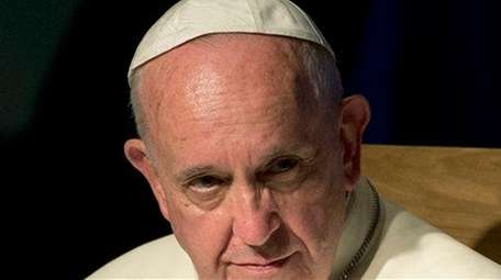 Pope Francis, seen on Saturday, June 6, 2015,