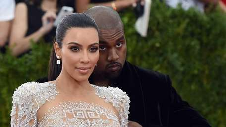 Kim Kardashian West and Kanye West arrive for