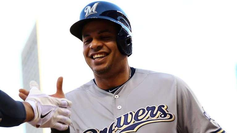 Aramis Ramirez of the Milwaukee Brewers celebrates with
