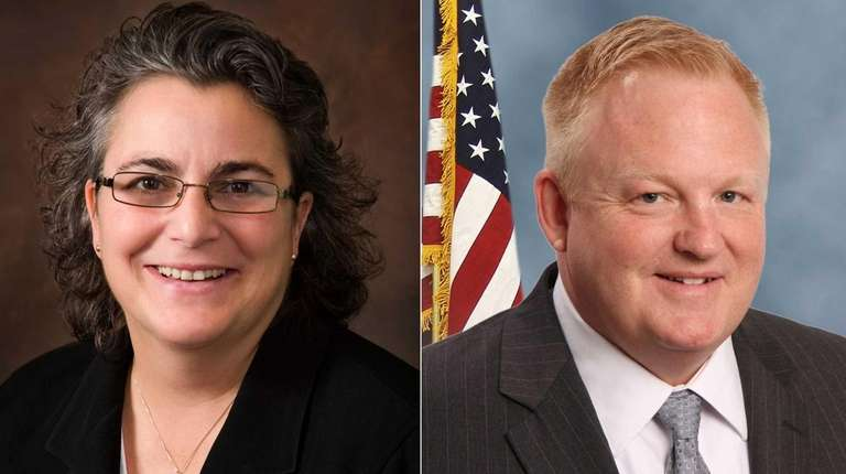 Incumbent Margot Garant, left, and challenger Dave Forgione