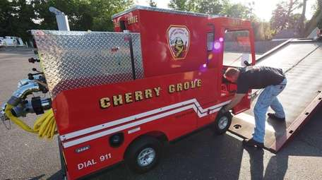 An 8-foot-by-5-foot fire truck that will serve the