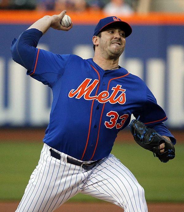 New York Mets starting pitcher Matt Harvey delivers