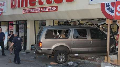 The driver of a Ford Excursion reportedly had