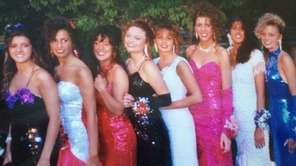 Sequins were clearly a popular prom fashion trend