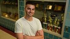 Joshua Landsberg, a senior at Jericho High School,