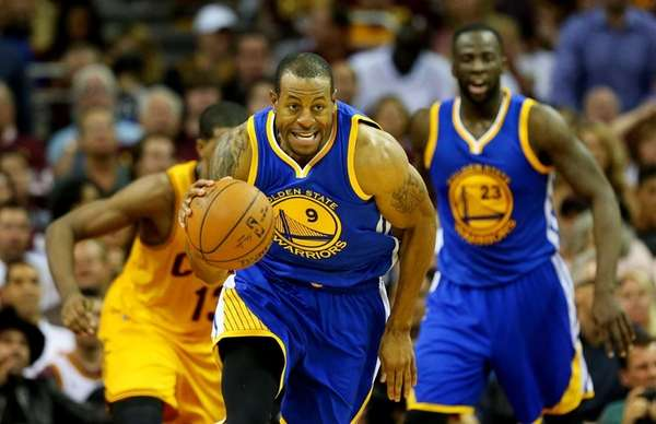 Andre Iguodala of the Golden State Warriors drives