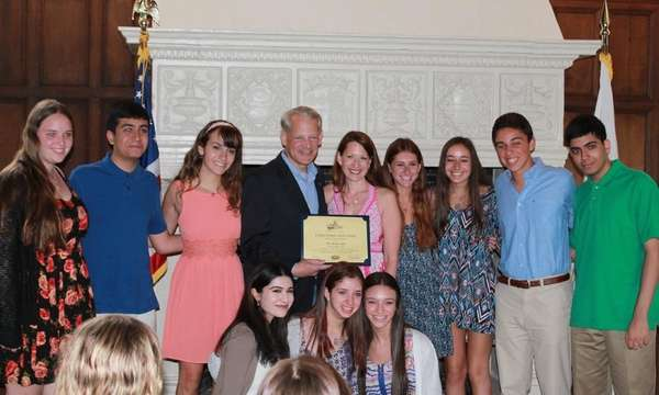 Rep. Steve Israel honored Long Island high school