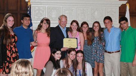 Rep. Steve Israel honored Long Island high school