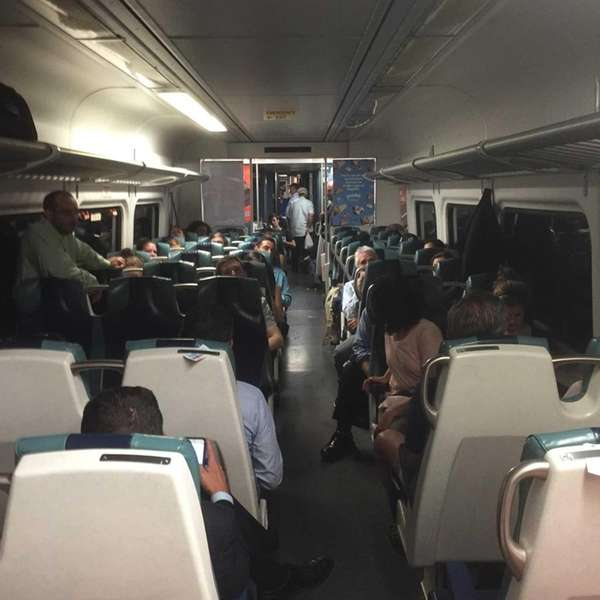 Some 500 Long Island Rail Road passengers were