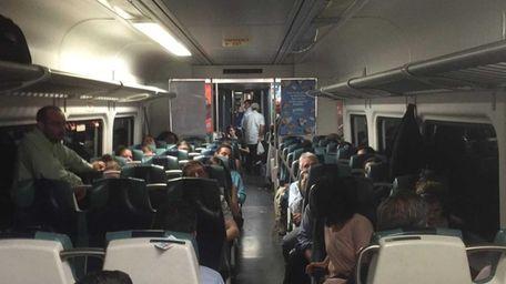 Some 500 Long Island Rail Road passengers were