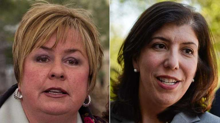 Republican Kate Murray (left) and Democrat Madeline Singas