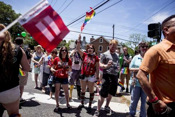People march during the 25th annual Long Island