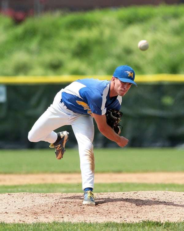Mattituck pitcher Brendan Kent delivers to the plate