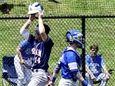 Byram Hills' Kellen Hatheway celebrates as he scores