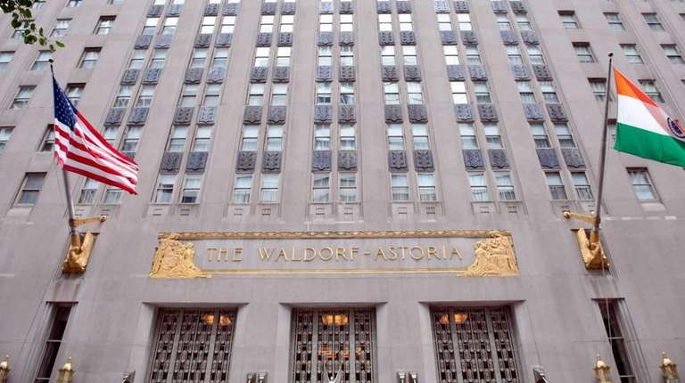 The Waldorf Astoria in midtown Manhattan is seen