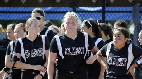 Clarke players react after their 9-7 loss to