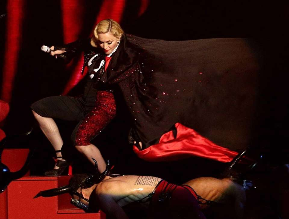 Madonna fell down a flight of stairs on