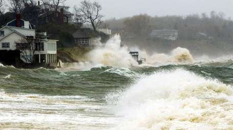 The Long Island Sound pounds homes in Southold