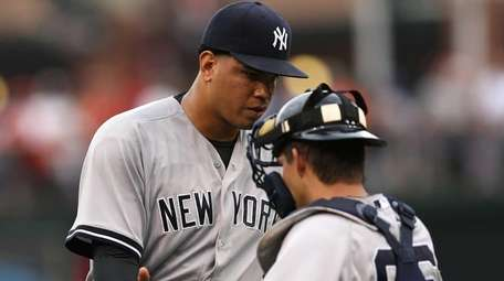 Pitcher Dellin Betances #68 of the New York
