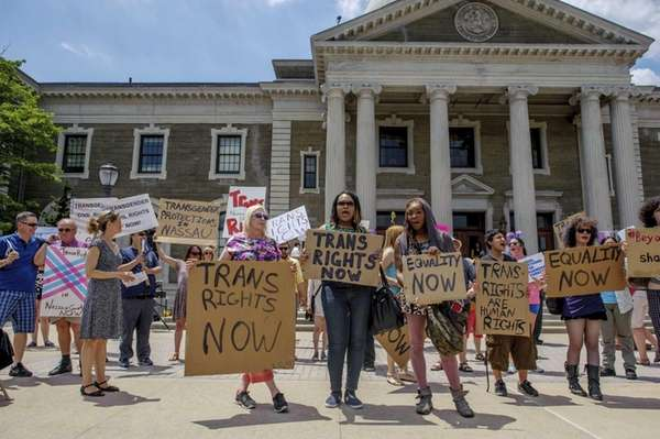 Members of Long Island's transgender community march and
