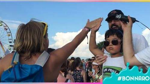Squish gave 2,392 high fives at Bonnaroo on
