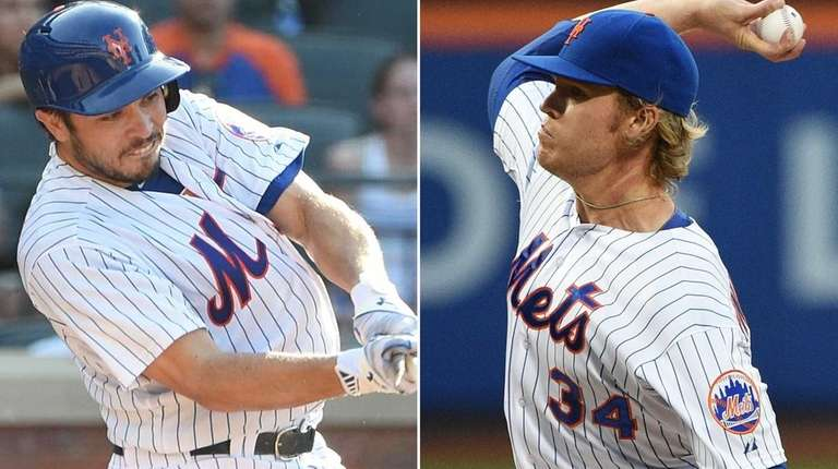 Travis d'Arnaud and Noah Syndergaard take on the