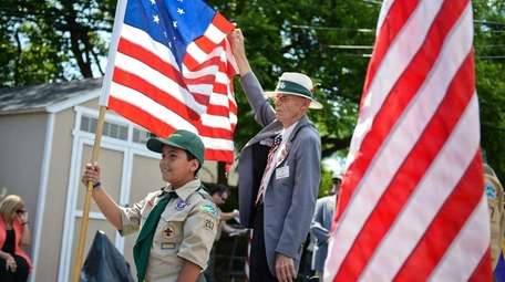 At a Flag Day ceremony at Islip Town