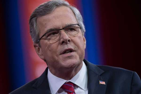 Jeb Bush speaks at National Harbor, Maryland in
