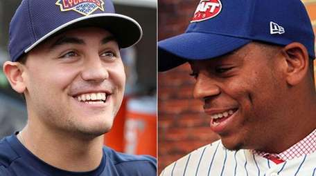 Michael Conforto, left, and Dominic Smith were each