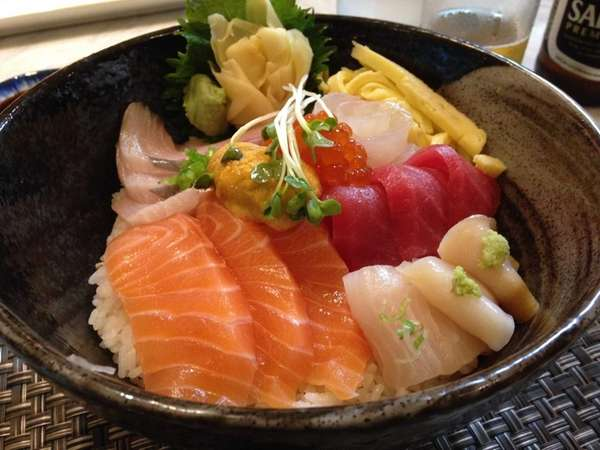 Chirashi is on the menu at Hana Japanese
