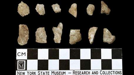 Chipped stone debris from the making of arrowheads