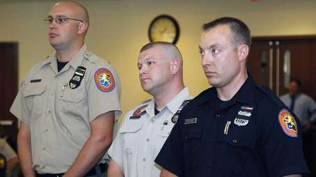 From left, Nassau County AMT's Matthew Beshlian, Ryan
