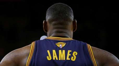 LeBron James #23 of the Cleveland Cavaliers looks