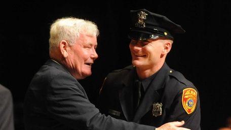 Former Suffolk Police Commissioner Richard Dormer celebrates with