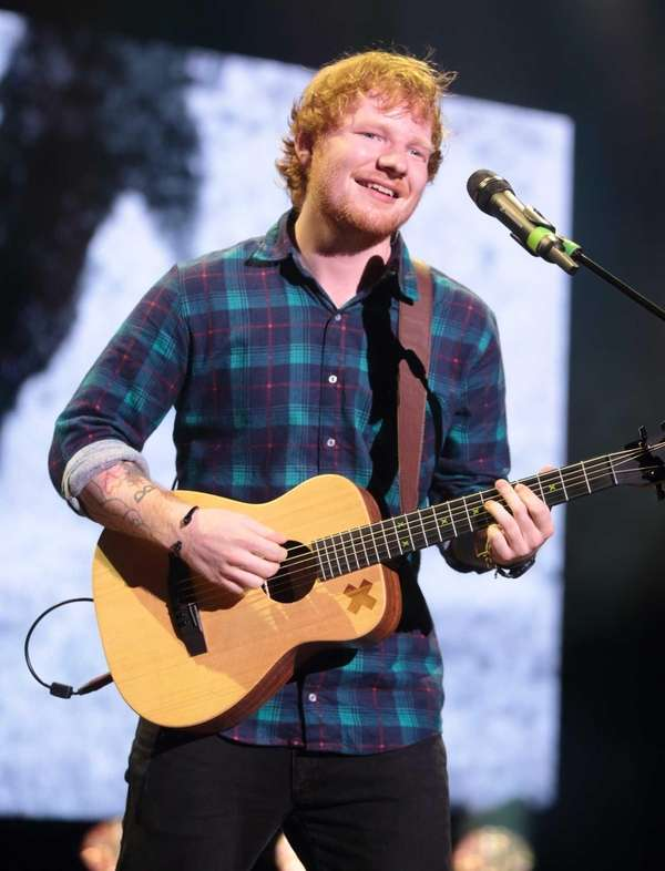Singer-songwriter Ed Sheeran performs at The Mann Center