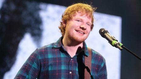 Singer-songwriter Ed Sheeran performs at The Mann Center