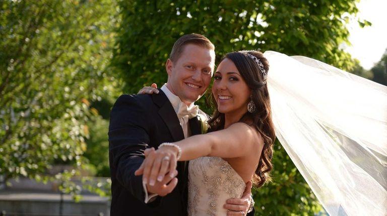 Chris and Ashley Salerno of Massapequa tied the