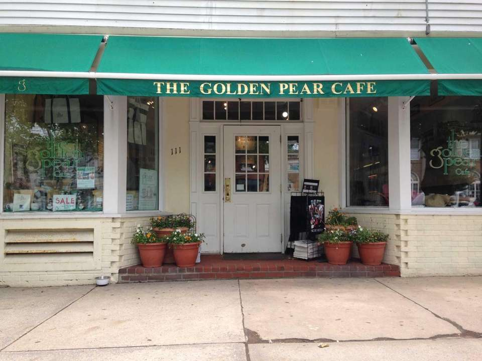 ... The Golden Pear Cafe is the green-awning