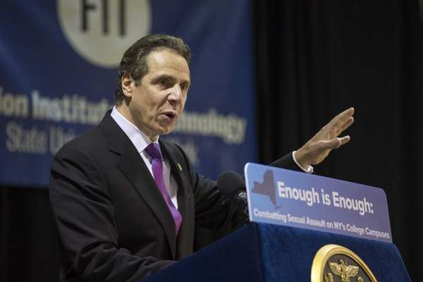 Gov. Andrew M. Cuomo speaks about his Enough