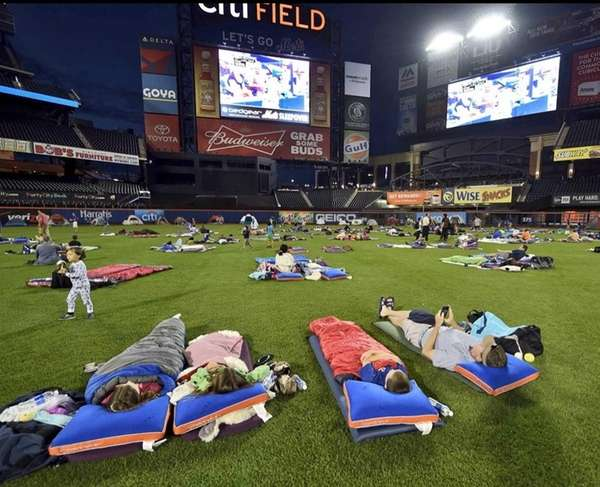 The Mets 3nd annual Citi Field Sleepover presented