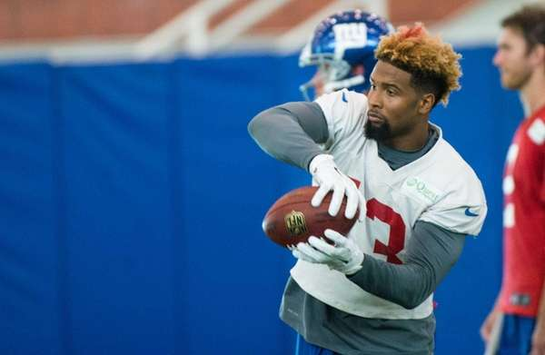 New York Giants wide receiver Odell Beckham makes