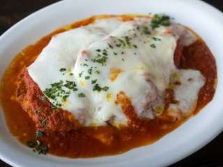 Chicken Parmigiana at Gino's of Kings Park.